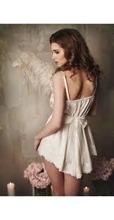 <b>Lace</b>-trimmed Cotton Bridal <b>Camisole</b> Wonderful short nightgown ...