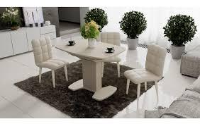 <b>Обеденный стол</b> Портофино 1100x750x750мм Бежевый/Стекло ...