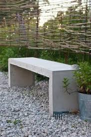concrete garden bench classic style