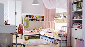 captivating childrens ideas kids shared bedroom design with double white bed along white bookshelves and drawer captivating white bedroom
