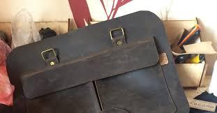 Классическая деловая <b>сумка</b> из кожи <b>Crazy Horse</b>. | Пикабу