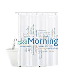 Штора для ванной комнаты GOOD MORNING,материал PEVA ...
