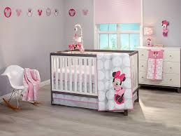 minnie mouse polkadots premier 4 piece crib bedding set disney baby baby mickey crib set design