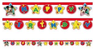 Купить <b>гирлянда Procos</b> Веселый Микки <b>Happy Birthday</b>, цены в ...