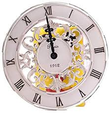 Shabby Chic <b>Vintage</b> French <b>Style Wall</b> Clock In <b>Antique</b> Cream ...