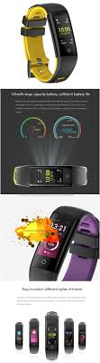 New <b>Smart</b> Slim <b>Wristband</b> IPS Color Screen <b>Heart</b> Rate Monitor ...