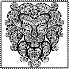 Small Picture Free coloring page coloring adult difficult lion head adult