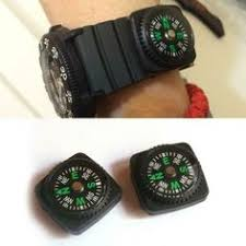 2PC Mini <b>Removable</b> Watch <b>Compass</b> For Outdoor Camping Hiking ...