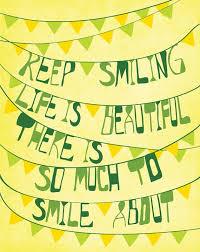 50+ Inspirational Smile Quotes | Art and Design via Relatably.com