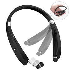 Bluetooth Headphones, Bluetooth <b>Headset Foldable</b> Neckband ...