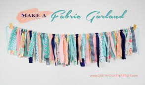 <b>how to make</b> a <b>fabric</b> garland | Grey House Harbor