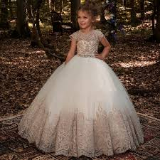 New <b>Flower Girl Dresses Beading</b> Sash Ball Gowns Lace Appliques ...