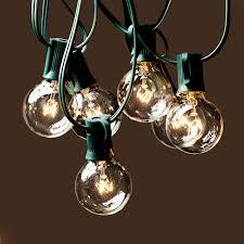patio light g bulbs clear e base