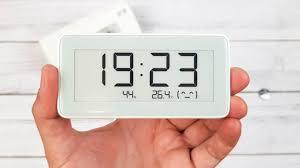 <b>Часы Xiaomi Mi</b> home (<b>Mijia</b>) с экраном E-ink, термометром ...