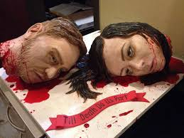 Gruesomely Beheaded Wedding Cakes : weirdest wedding cake via Relatably.com