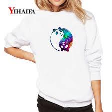Купить Оптом Белый Hoodie <b>Женщины</b> Harajuku <b>Galaxy</b> Panda ...