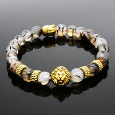 <b>Hot Sale Natural</b> Stone Lion Buddha Beaded Charm Women ...