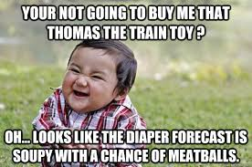 Your not going to buy me that thomas the train toy ? oh... looks ... via Relatably.com