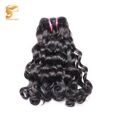 <b>AOSUN HAIR</b> Afro Fumi Double drawn Bouncy Loose Curly 1pcs ...