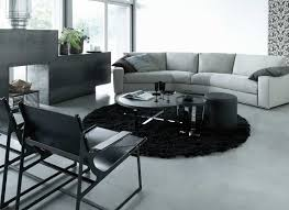 a black area rug can tie together a gray dcor black white rug home