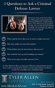 questions to ask a phoenix criminal defense lawyer infographic