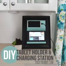 how to make a counter top tablet and phone holder and charging station out of a charging station kitchen central office