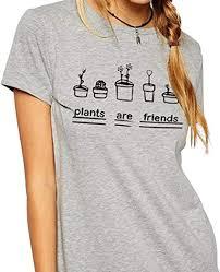 M-Egal <b>Women T Shirts</b> Graphic Top Tees <b>Plants Are</b> Friends ...