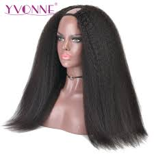 <b>YVONNE Kinky Straight</b> U Part Wig Human Hair Wigs 100 ...