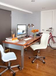 furniture nifty decoration for small office ideas with glossy wood desk between chic white chair chic small office ideas