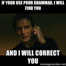 If your use poor grammar, i will find you and i will correct you ... via Relatably.com