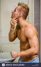 photo young man bathroom