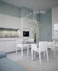 Contemporary Chandeliers Dining Room Dining Room Chic White Kitchen Dining Table Idea With Oval Glass