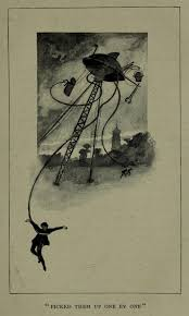 the very first illustrations of h g wells the war of the worlds horrifying work for the 1906 edition today we go back before the war of the worlds first edition to behold the aliens as rendered by warwick goble