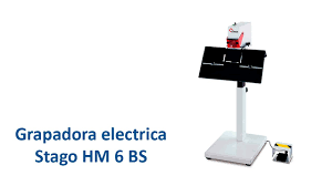 Grapadora electrica <b>STAGO HM 6 BS</b> - YouTube