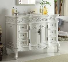 traditional style antique white bathroom: adelina  inch traditional style antique white bathroom vanity