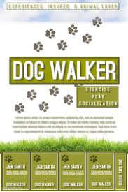 Pets Flyer Templates | PosterMyWall ... flyer poster announcement; Dog walker ...