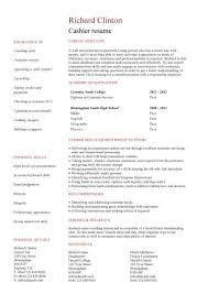 resume examples  cashier resume example cover letter examples        resume examples  cashier resume example for career objective with academic qualifications and personal skills  resume examples  sample customer service