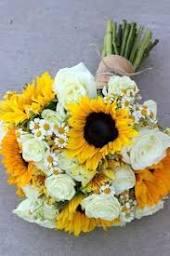 Summery <b>Sunflowers</b> Wedding Bouquet: <b>Sunflowers</b>, chamomile ...
