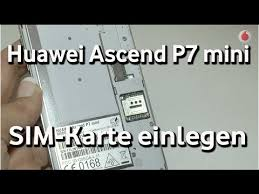 Huawei Ascend P7 mini - SIM-Karte einlegen - YouTube