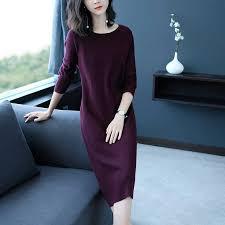 2018 new warm Women <b>Autumn</b> Winter <b>Sweater Knitted</b> Dresses ...