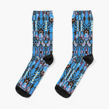 """Boho Chic Bohemian <b>Blue Stylish Pattern</b>"" Socks by mythandframe ..."