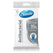 <b>Салфетки влажные Smile антибактериальные</b> 15 шт купить ...