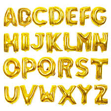 Gold Letter Balloon birthday party decorations kids Gold Wedding ...