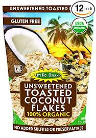 Let's Do <b>Organic</b> Unsweetened <b>Toasted Coconut Flakes</b>, 7 Ounce