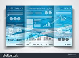 vector tri fold brochure template design stock vector  vector tri fold brochure template design or flyer layout to use for business applications magazines