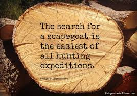 Image result for scapegoat quotations
