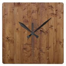 <b>Wooden Planks</b>, Barks, <b>Boards</b>, Barn Wall - Brown Square <b>Wall Clock</b>