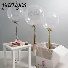 <b>100pcs lot</b> 10 18 <b>24 Inch</b> Transparent Bubble Balloons Pvc Super ...