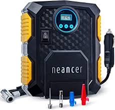 Neancer Digital Tire <b>Inflator with</b> Gauge, <b>Mini Electric</b> Air Pump ...