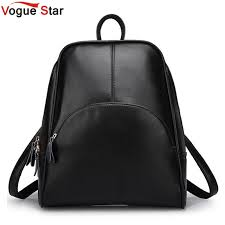 Vogue Star! 2019 <b>NEW fashion backpack women</b> backpack Leather ...